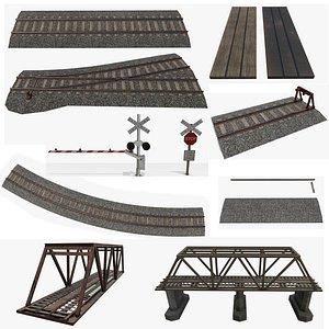 games railroad crossing 3D model