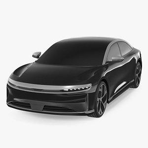 3D Electric Luxury Sedan Exterior Only