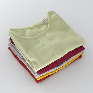 Stack Of Folded Womens Clothes 170 3D model