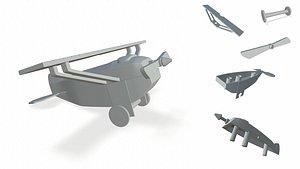 plane print 3D model