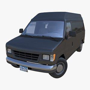 3D American industrial van XL model