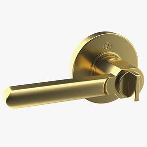 3D Gold Door Handle model