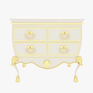 Dresser White 3D model