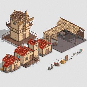 village seaside 3D model
