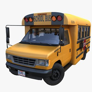 3D School mid bus PBR model