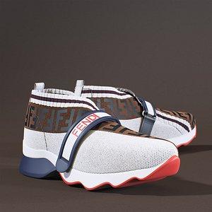 Fendi Monogram White Sneakers model
