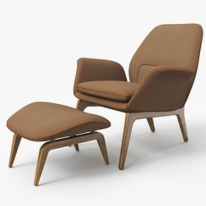 Lounge Chair Brown - PBR 3D model