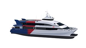 catamaran passenger ferry - model