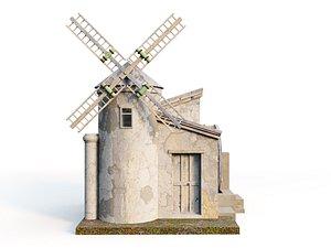 3D model Cartoon Mill
