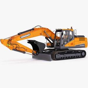 3D model Doosan DX225LC-5 Crawler Excavator