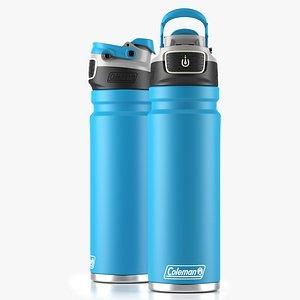 3D Coleman autoseal water bottle Blue