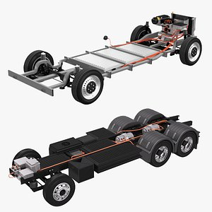 Electric Truck and Van Chassis Collection 3D model