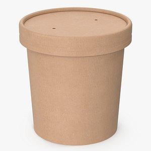 3D cup food kraft
