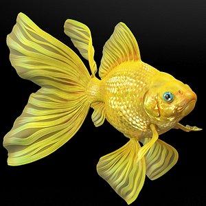 3D model Goldfish Rigged for Maya