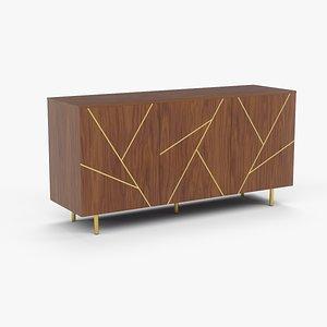 3D cabinet decoration arch-viz