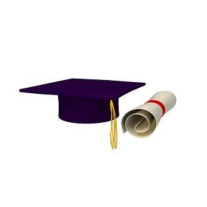 3D cap diploma model