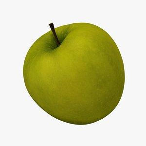 Green Apple - Extreme Definition 3D Scanned 3D model