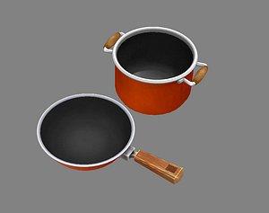 soup pot 3D model