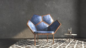 3D model Louis5 chair by Fratelli Boffi