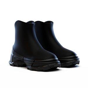 3D boots hiking model