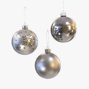 Christmas balls silver model