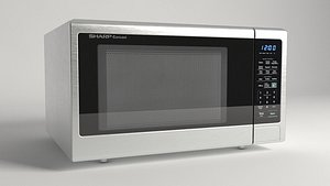microwave oven stainless 3D model