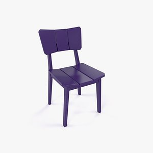 3D Wood Chair Color