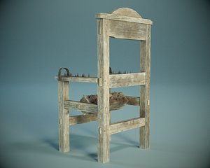 Medieval Spiked Torture Chair PBR model