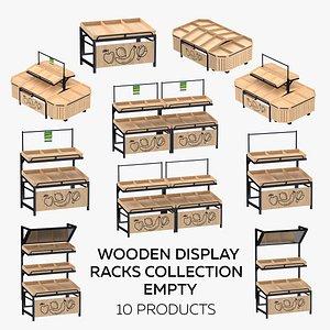 3D model Wooden Dislay Racks Collection - Empty