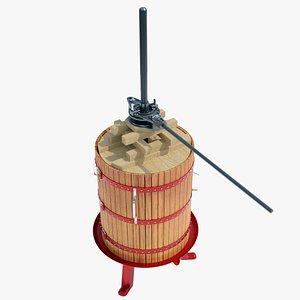 wine press e 3D model