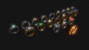 The 20 Rings Of Power LOTR model