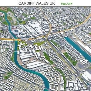 3D model Cardiff Wales UK