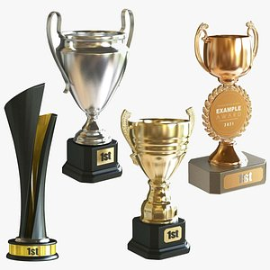 Award Cup Collection 3D model