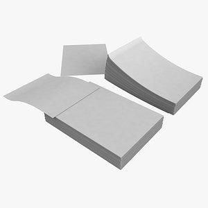 A4 Paper Bubdle 3D model