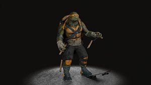 TMNT Michelangelo game ready model