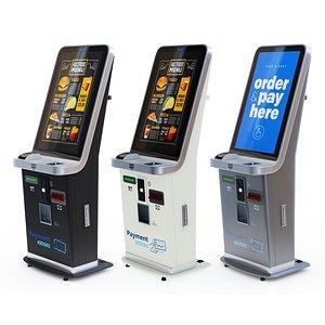 kiosk payment 3D model