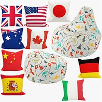 Bean Bag Chairs and Pillows Collection V6