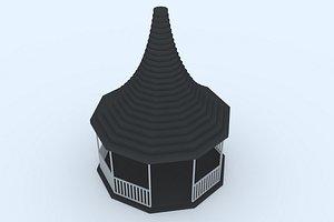 gazebo 20 3D model