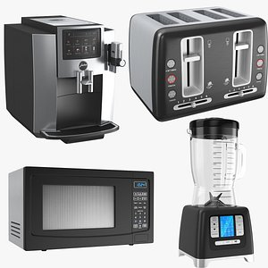 3D real kitchen appliances