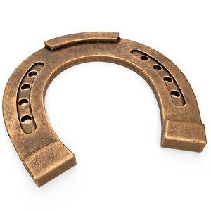 3D model horseshoe bronze