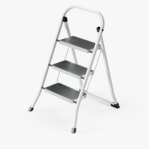 3D 3-Step Metal Stepladder