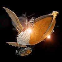 Fantasy Animated Zeppelin