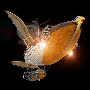 zeppelin fantasy 3D model