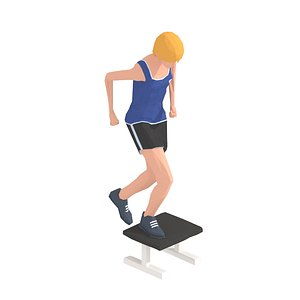 3D animations exercise woman