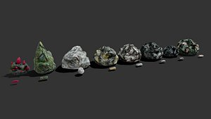 3D Ores and ingots 3