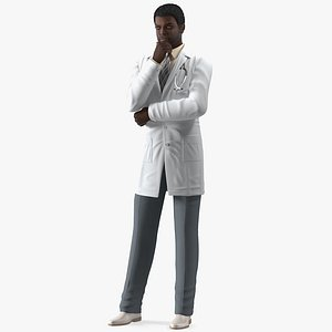 african american male doctor model
