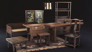 3D chinese furniture antique