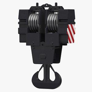 3D model liebherr lr crane hook