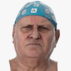 3D Homer Human Head Inner Brow Raiser AU1 Clean Scan