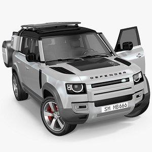 3D Land Rover Defender Explorer Pack Rigged